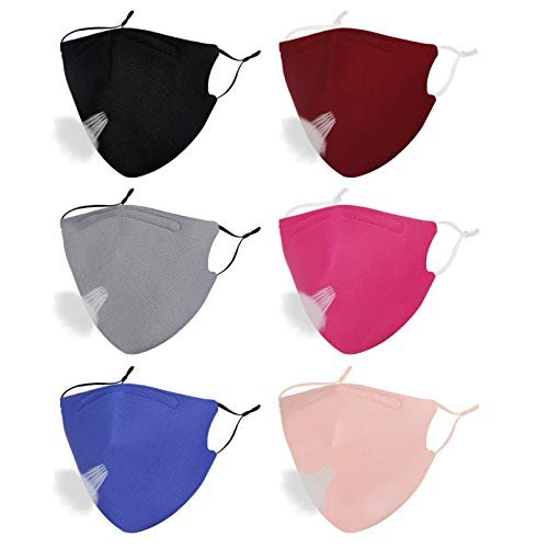 Reusable and breathable face masks