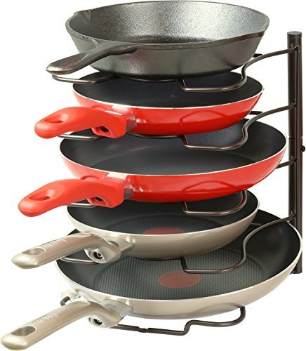 Pantry pan organizer rack