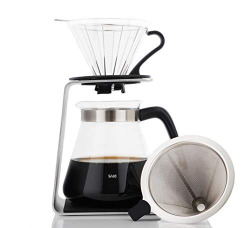 Pour over brewing extracts all the rich flavors