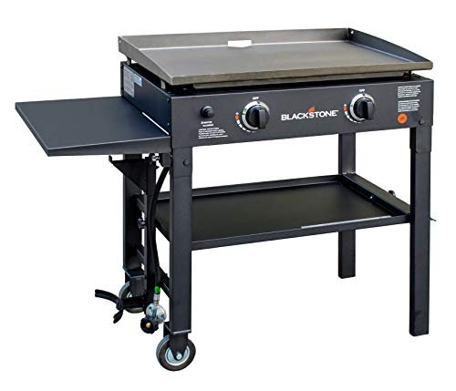 Flat top gas griddle station