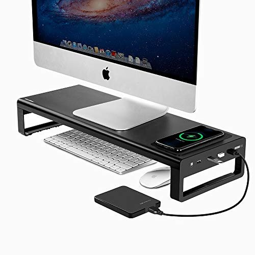 Get 40% off a wireless charging aluminum monitor stand