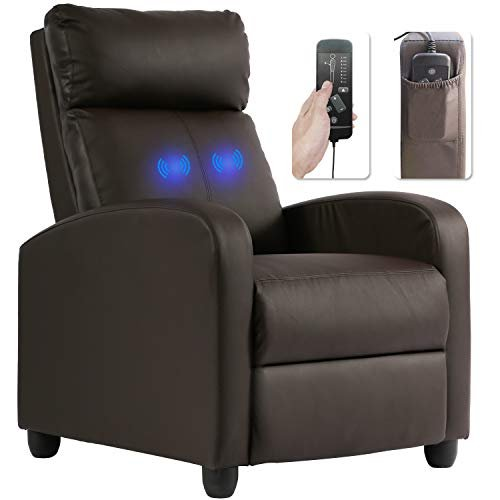 Recliner chair with built-in massager