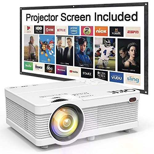 """Portable LCD projector with 100"""" screen"""