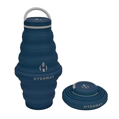 Travel-friendly collapsible water bottle
