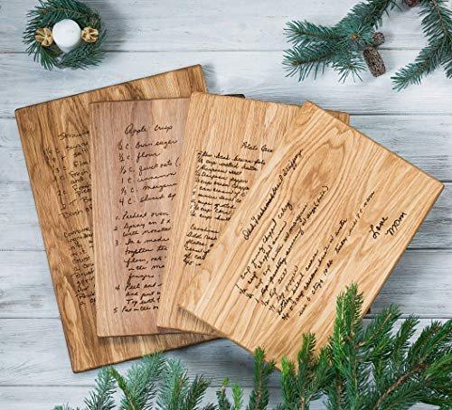 Custom Recipe Cutting Board, Handwritten Recipe Cutting Board,Personalized Recipe Cutting Board,Family Recipe, Engraved Recipe, Family Heirloom Gift Engraved Grandma Mom Mother