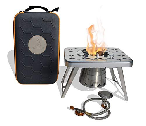 Compact camping stove is ideal for backpacking from nCamp