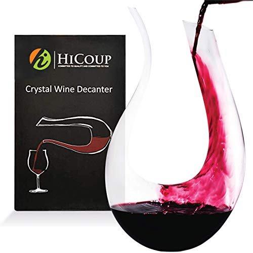 Hand-blown wine decanter