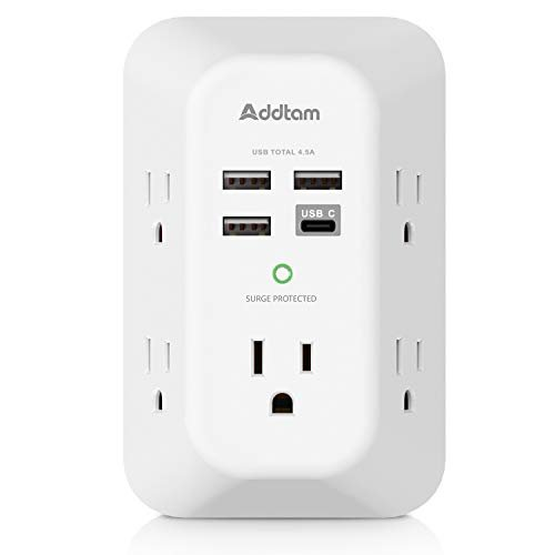 USB wall charger and surge protector