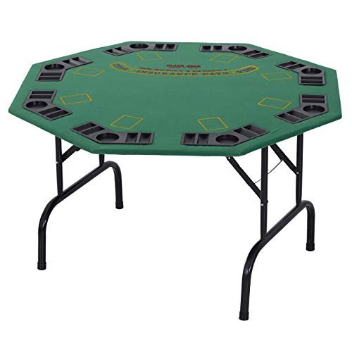 Folding octagon poker table is perfect for game night