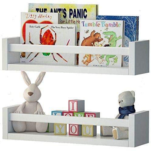 Wood floating wall shelves for children books
