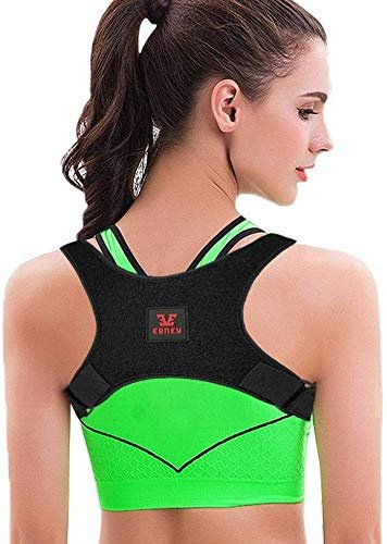 Posture Corrector for Men and Women - Yougreast Adjustable Back Brace Effective and Comfortable Back Shoulder Clavicle Support &Neck Pain Relief