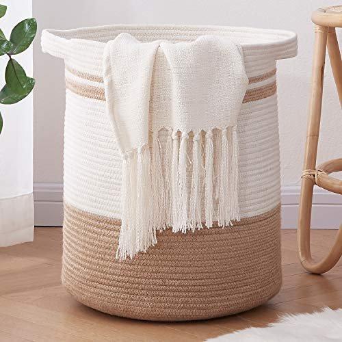 Large rope laundry basket