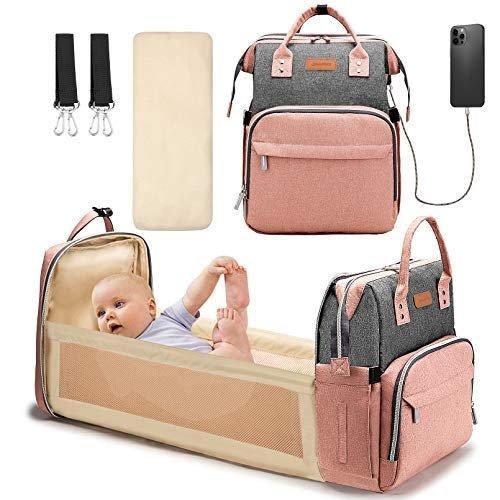 Versatile diaper bag backpack