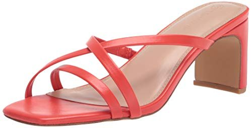 Amelie strappy square toe heeled sandal