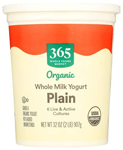 365 by Whole Foods Market, Organic Yogurt, Whole Milk - Plain, 32 Ounce