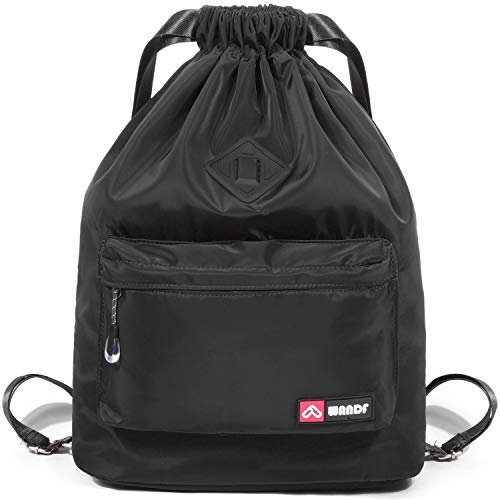 Drawstring backpack with shoe pocket is ideal for the gym