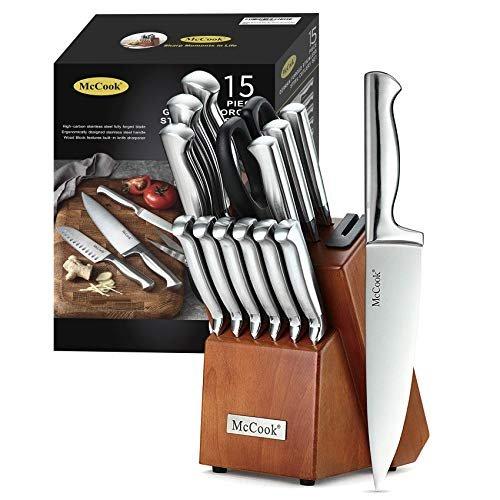 German stainless steel knife block set