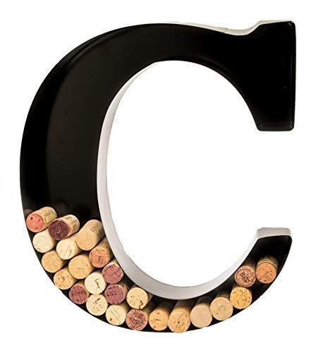 Monogram letter cork holder