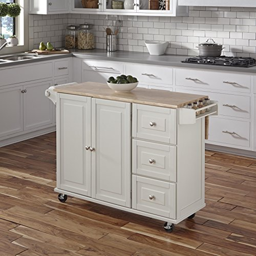 Kitchen island cart with ample storage space