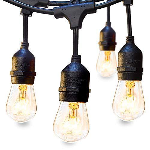 Outdoor string lights will set the summer mood