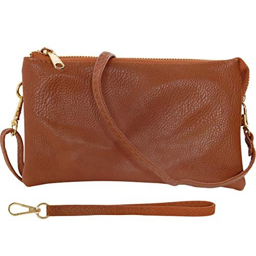 Vegan leather wristlet wallet