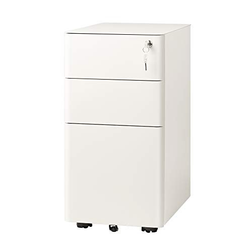 Slim vertical file cabinet