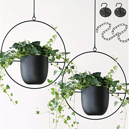 Metal modern wall or ceiling planter