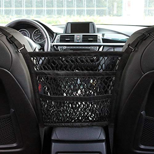 Mesh organizer and backseat barrier