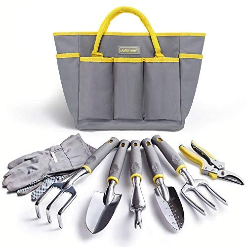 Garden tools, gloves and bag