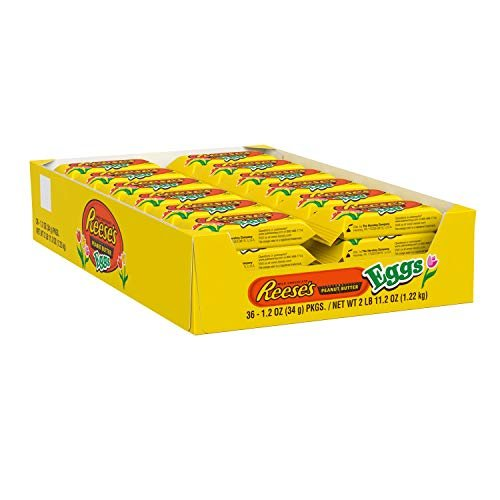 REESE'S Milk Chocolate Peanut Butter Eggs Candy (pack of 36)