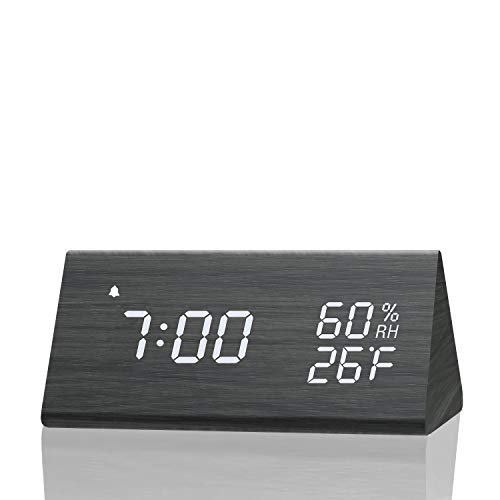 Save 15% on a wooden digital alarm clock