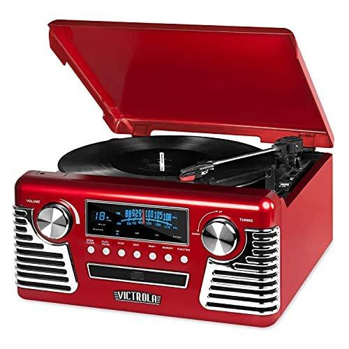 Victrola 50's retro bluetooth record player & multimedia center