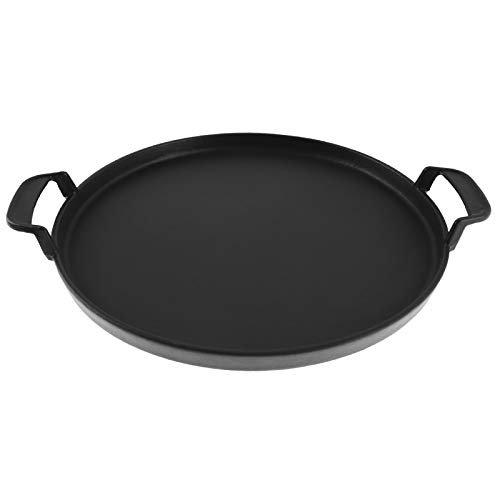 Enameled cast iron griddle pan
