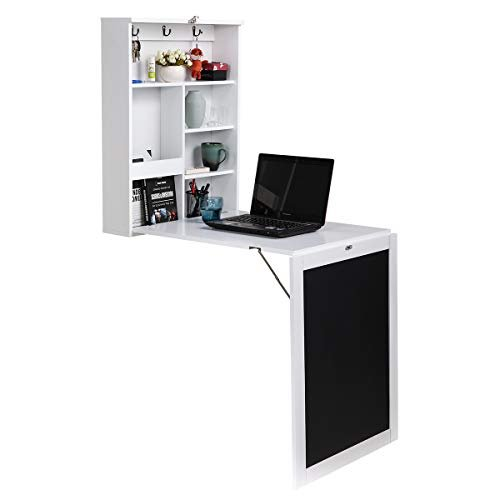 Wall-mounted fold out computer desk