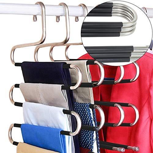 Space-saving pants hangers