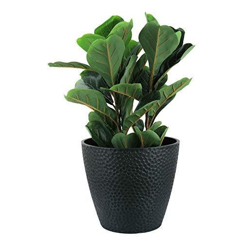 Black honeycomb indoor/outdoor planter