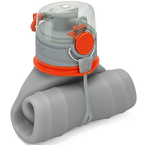 Save space with a collapsible water bottle