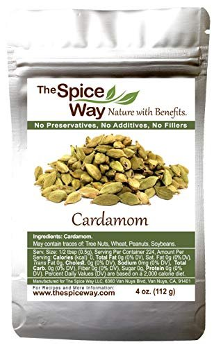 The Spice Way Cardamom Pods- ( 4 oz ) Whole Green Cardamom Pod