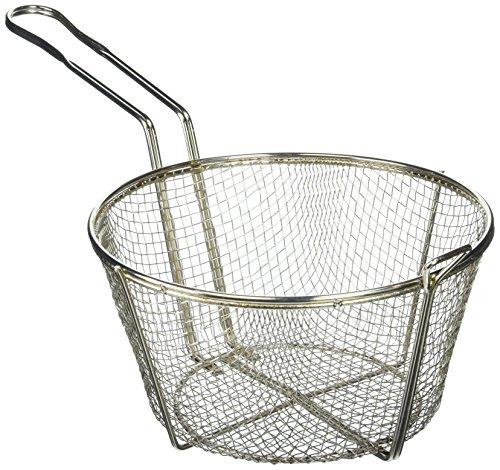 Steel wire fry basket