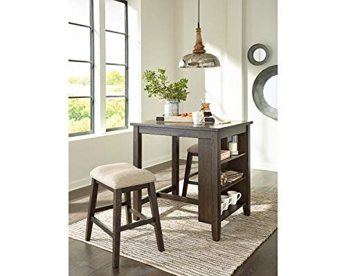 Tall dining room table with shelving