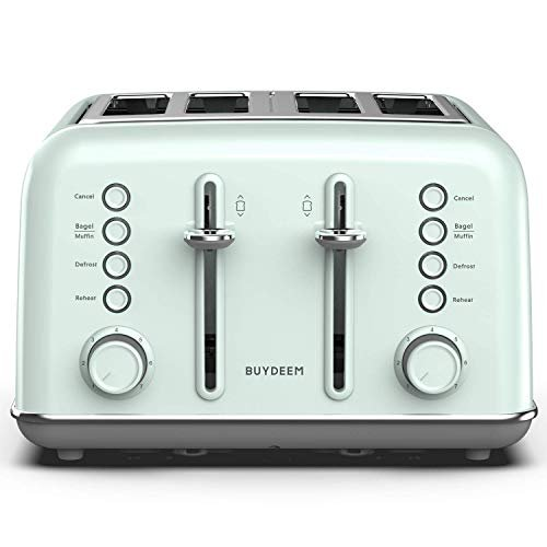 4-slice toaster with extra wide slots