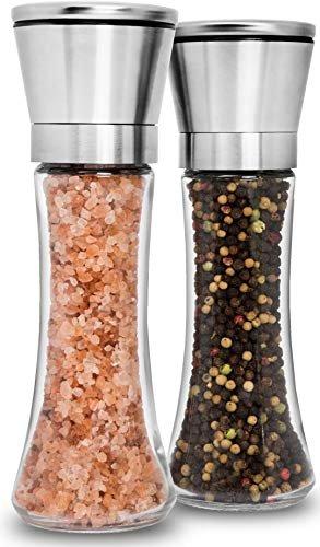 Save 15% on a premium salt and pepper grinder set