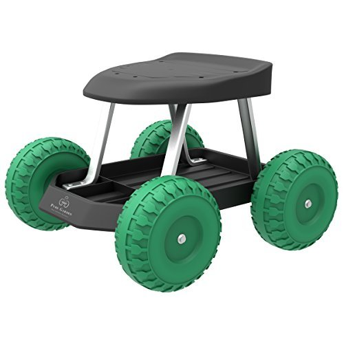 Cart rolling stool for easy weeding and planting