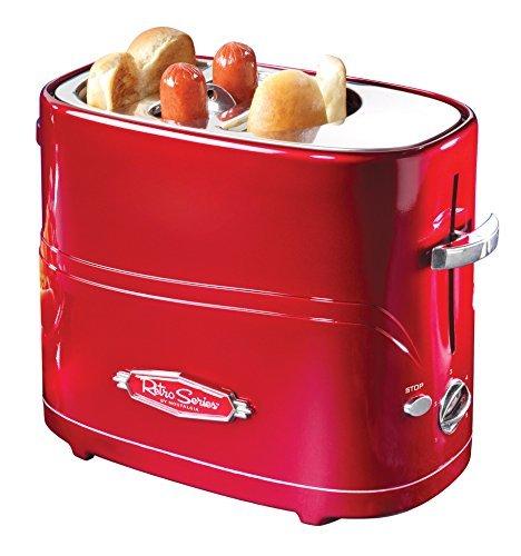 Pop-up hot dog cooker and bun toaster