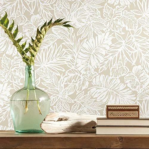 Tropical leaf peel & stick wallpaper for easy application