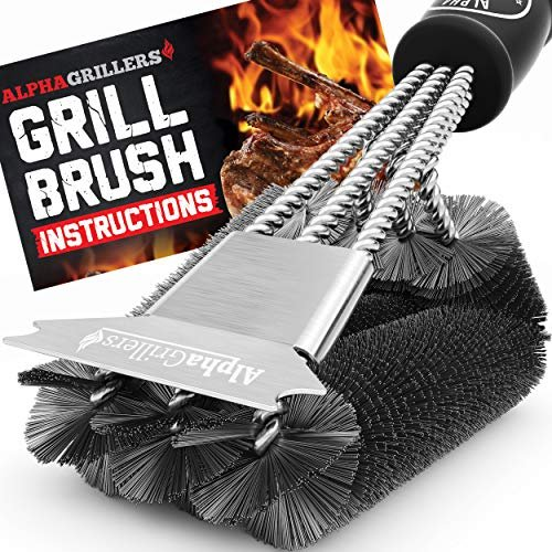 Extremely effective BBQ brush and scraper
