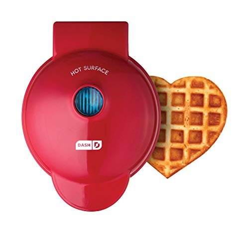 Dash Red Heart Mini Waffle Maker