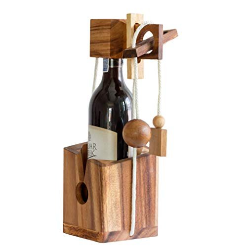 Wine bottle puzzle and brain teaser