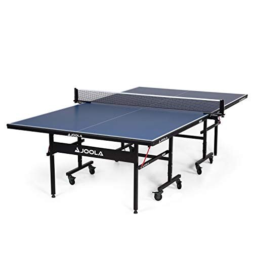 Professional-grade ping pong table on wheels
