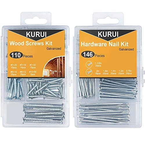 Set of nails and wood screws